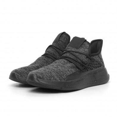 Ανδρικά μαύρα αθλητικά παπούτσια Kiss GoGo it260520-1 3