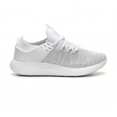 Ανδρικά λευκά μελάνζ αθλητικά παπούτσια ελαφρύ μοντέλο it040619-3 2