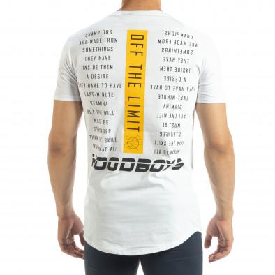 Ανδρική λευκή κοντομάνικη μπλούζα Off The Limit it120619-43 3