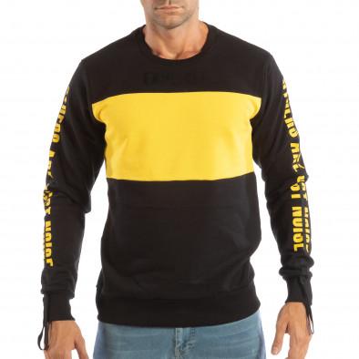 Ανδρική μαύρη βαμβακερή μπλούζα EXPLICIT it240818-143 3