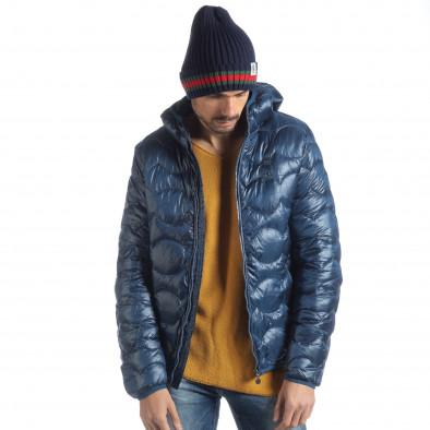 Ανδρικό γαλάζιο χειμερινό καπιτονέ μπουφάν   it051218-66 4