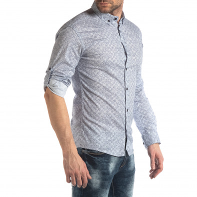 Ανδρικό λευκό πουκάμισο Baros it210319-91 3