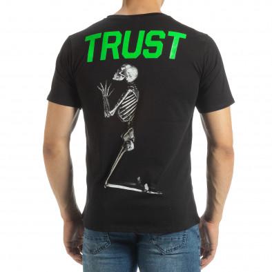 Ανδρική μαύρη κοντομάνικη μπλούζα Pray Trust it120619-40 3