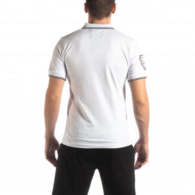 Ανδρική λευκή κοντομάνικη polo shirt Royal cup it210319-75 3