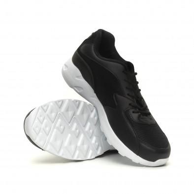Ανδρικά ελαφριά αθλητικά παπούτσια με χοντρή σόλα σε μαύρο it040619-11 4