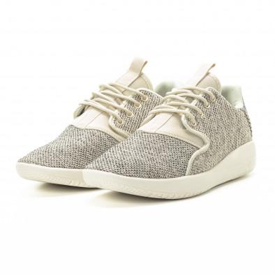 Ανδρικά μπεζ αθλητικά παπούτσια ελαφρύ μοντέλο it301118-3 3