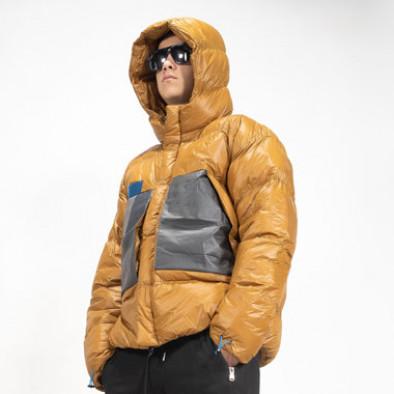 Ανδρικό χειμωνιάτικο μπουφάν με μεγάλες τσέπες it091219-15 4