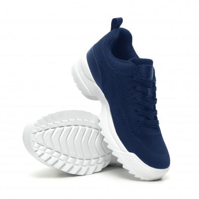 Ανδρικά μπλε αθλητικά παπούτσια με Chunky σόλα it230519-131 4
