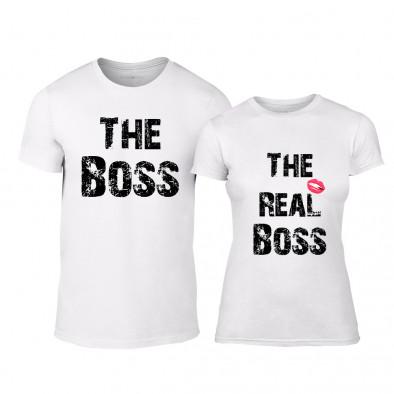 f61b49ff5cc7 Μπλουζες για ζευγάρια Boss λευκό TMN-CP-139 - Fashionmix.gr