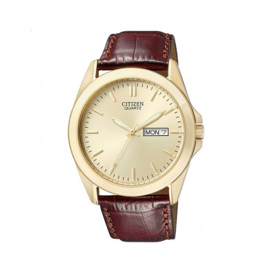 Ανδρικό ρολόι Citizen Elegant Gold Case Brown Leather