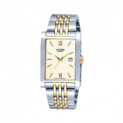 Ανδρικό ρολόι Citizen Quartz Gold Dial Two-Tone Quatz BH1378-50A