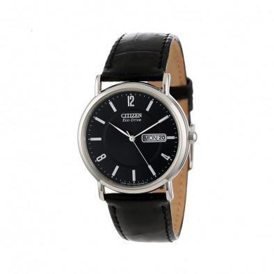 Ανδρικό ρολόι Citizen ECO-DRIVE GTS Black Dial Black Leather BM8241-01E
