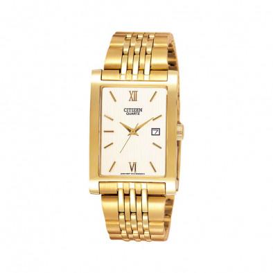 Ανδρικό ρολόι Citizen Quartz Gold Tone Elegant BH1372-56A