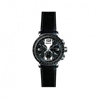 Ανδρικό ρολόι Doxa Trofeo Black Leather
