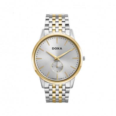Ανδρικό ρολόι Doxa Slim Line Silver Dial Two-Toned