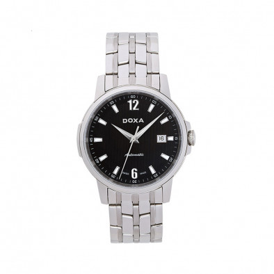 Ανδρικό ρολόι Doxa Ethno Automatic Black Dial Stainless Steel