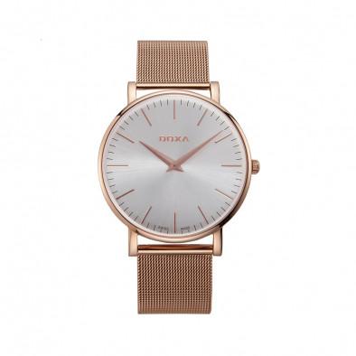 Ανδρικό ρολόι Doxa D-Light Rose Gold Plated Men's Quartz Watch