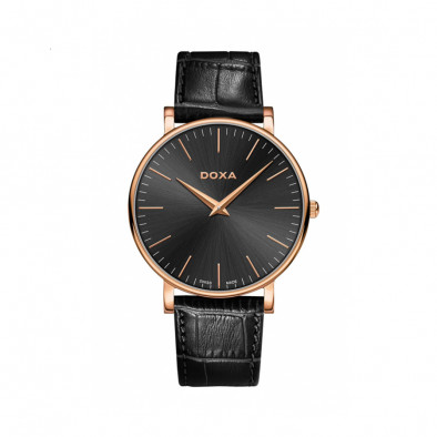Ανδρικό ρολόι Doxa D-Light Rose Gold Plated Black