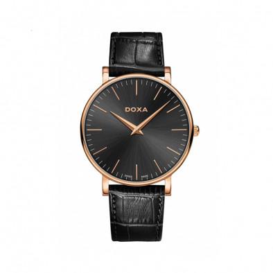 Ανδρικό ρολόι Doxa D-Light Rose Gold Plated Black