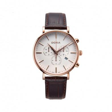 Ανδρικό ρολόι Doxa D-Light Rose Gold Plated Chronograph Watch