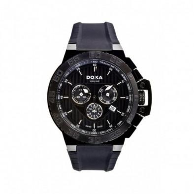 Ανδρικό ρολόι Doxa Splash Chronograph Black Dial  PVD Black
