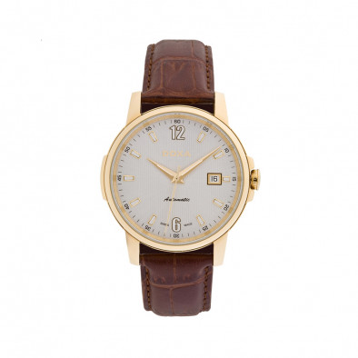 Ανδρικό ρολόι Doxa Ethno Automatic Gold Brown Leather