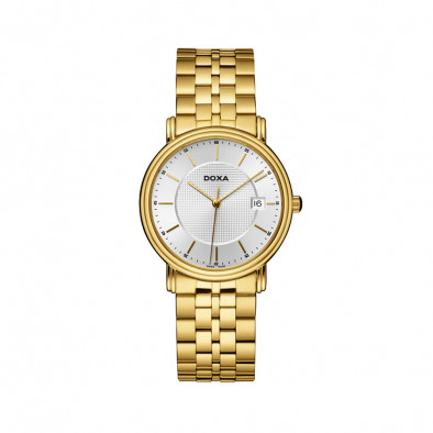 Ανδρικό ρολόι Doxa Royal PVD Gold WHite Dial