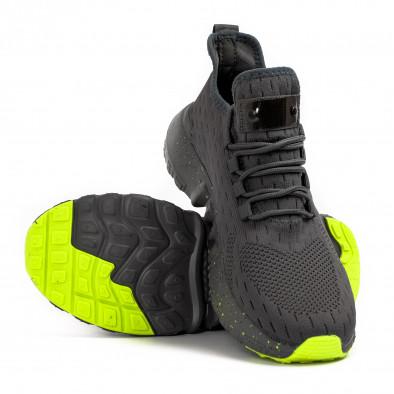 Ανδρικά γκρι αθλητικά παπούτσια Kiss GoGo it180621-2 4