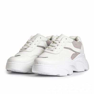 Γυναικεία λευκά αθλητικά παπούτσια FM it280820-17 4