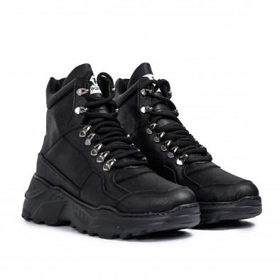 Ανδρικά μαύρα sneakers Trekking design tr131120-3 3