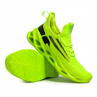 Ανδρικά πράσινα sneakers Chevron it090321-1 4