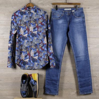 Ανδρικό πολύχρωμο πουκάμισο Open tr110320-99 4