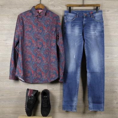 Ανδρικό πολύχρωμο πουκάμισο Open tr110320-98 4