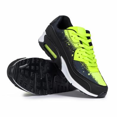 Ανδρικά μαύρα αθλητικά παπούτσια Splash neon it140720-11 4