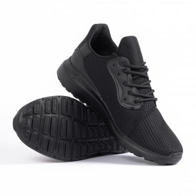 Ανδρικά μαύρα αθλητικά παπούτσια Kiss GoGo it260520-3 4