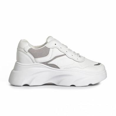 Γυναικεία λευκά αθλητικά παπούτσια FM it280820-17 2