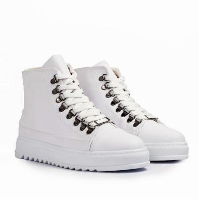 Ανδρικά λευκά sneakers Trekking design tr181120-5 3