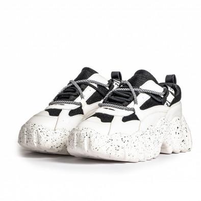 Sneakers Ultra Sole σε λευκό και μαύρο it280820-22 3