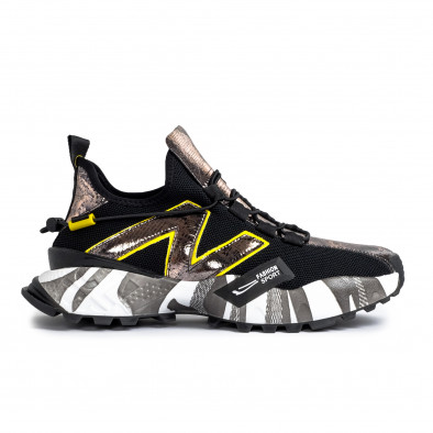 Slip-on ανδρικά μαύρα sneakers gr270421-32 4