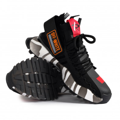 Destructured Chunky ανδρικά μαύρα sneakers gr020221-14 5