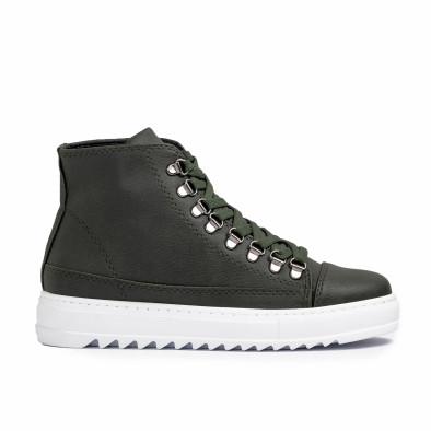Ανδρικά πράσινα sneakers Trekking design tr181120-4 2