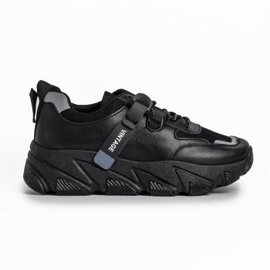 Γυναικεία μαύρα αθλητικά παπούτσια FM it280820-12 2