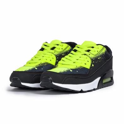 Ανδρικά μαύρα αθλητικά παπούτσια Splash neon it140720-11 3
