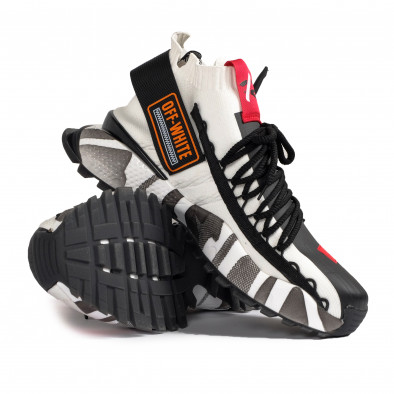 Destructured Chunky ανδρικά λευκά sneakers gr020221-15 5
