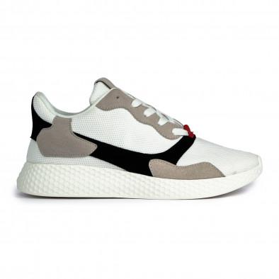 Ανδρικά λευκά αθλητικά παπούτσια it180820-5 2