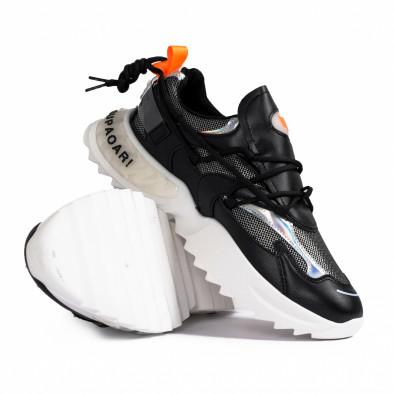 Chunky ανδρικά μαύρα sneakers gr020221-12 5