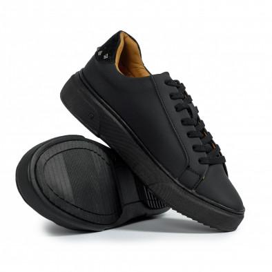 Ανδρικά μαύρα sneakers All black it300920-57 4