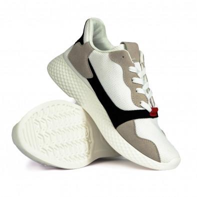 Ανδρικά λευκά αθλητικά παπούτσια it180820-5 4