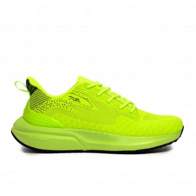 Ανδρικά πράσινα sneakers σε υφή it090321-6 2