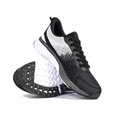 Ανδρικά αθλητικά παπούτσια σε μαύρο και λευκό  it270320-19 4